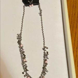Baby Pink Necklace and Earrings Set
